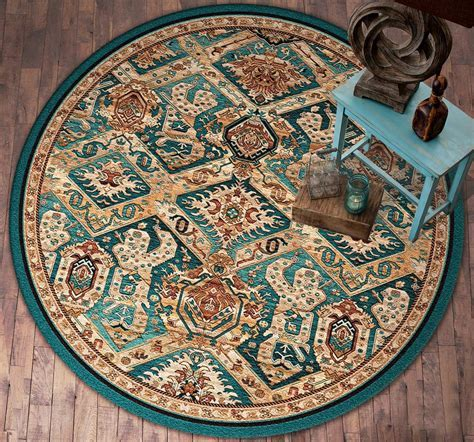 Southwest Rugs: 8 Ft. Round Moon Dancer Rug Lone Star