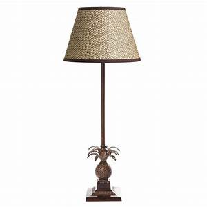 caribbean pineapple table lamp base emac lawton With pineapple floor lamp with table