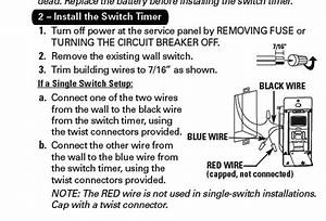 When I Went To Hook Up My Intermatic St01 Wall Timmer I Found 2 Back Wires Hooed Up To The Old