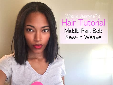 Middle Part Bob Sew-in Weave Tutorial