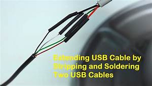 Extending Usb Cable By Stripping And Soldering Two Usb