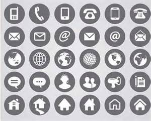 Email And Phone Icon For Resume by Contact Icons 19 Free Sets Useful For Website Design
