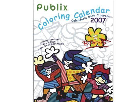 romero britto publix coloring calendar  artreco
