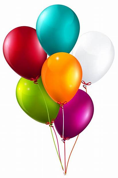 Balloons Clipart Colorful Birthday Happy 2nd Bunch