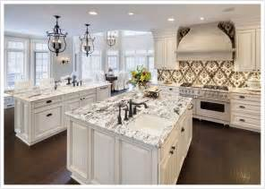 Kitchens with White Ice Granite Countertops