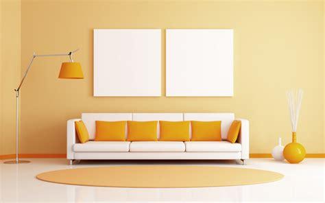 Furniture Wallpaper by Wallpaper Wall Yellow Orange Interior Design Color