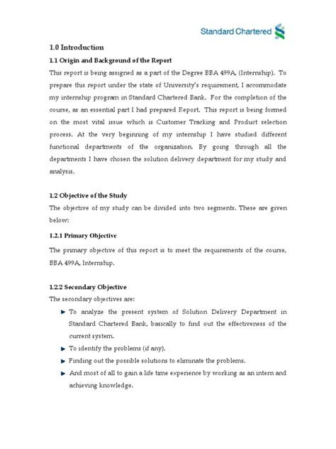 a report on standard chartered bank | Banks | Cheque