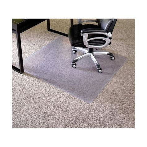 es robbins 46 quot x 60 quot carpet office chair mat 12x381