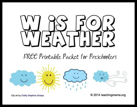 weather theme preschool worksheets them and try