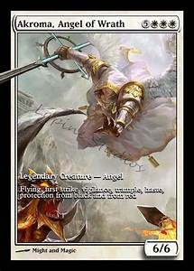 Akroma Angel of Wrath Magic the Gathering altered art Custom