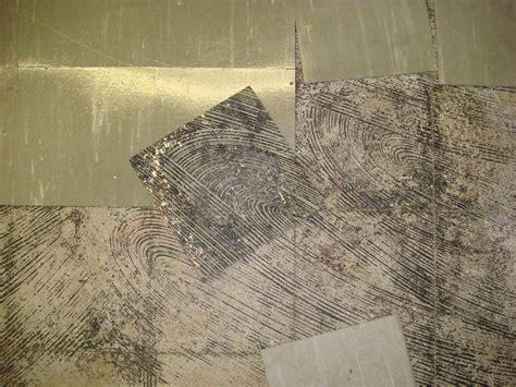 asbestos floor tile black mastic damaged loose detail