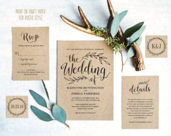 diy wedding invitation kits nz wedding invitation kits etsy nz