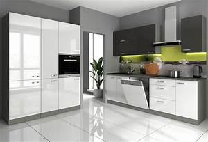 Küche Weiß Hochglanz : k che vario v 240 160 cm k chenzeile in hochglanz weiss ~ Watch28wear.com Haus und Dekorationen