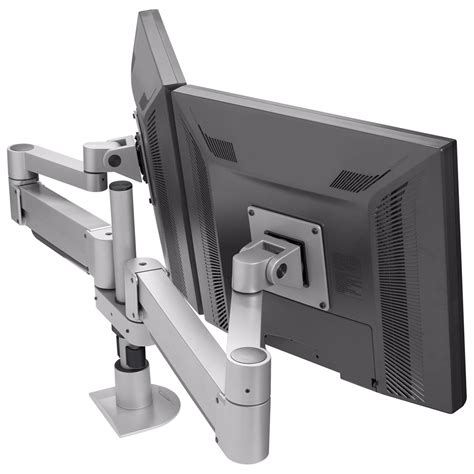 dual monitor arm desk mount innovative duopod dual lcd monitor arm w 2 fully