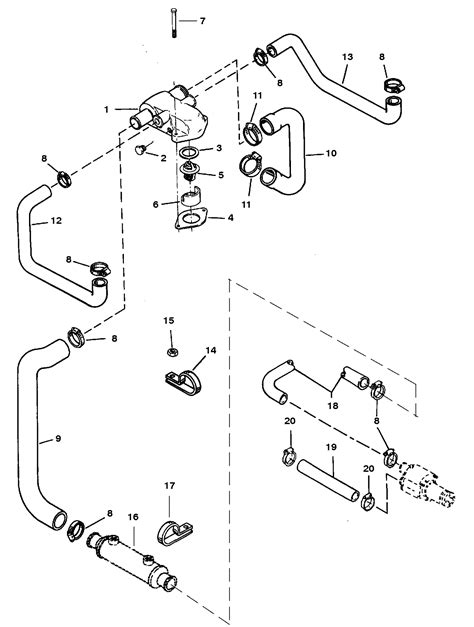 Mercruiser Thermostat Wiring Diagram by Standard Cooling System Bravo Engines For Mercruiser 5 7l
