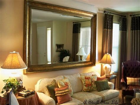 ideas large mirrors  living room wall mirror