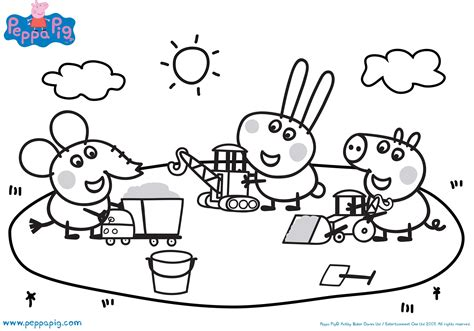 Monumental Peppa Pig Coloring Page Free Pages 4450