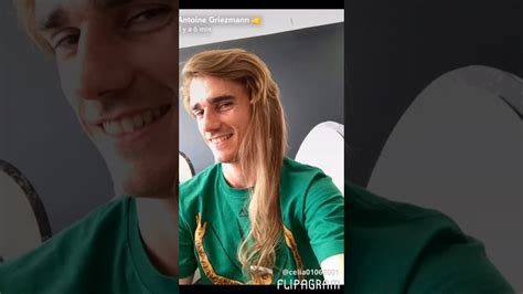 Antoine griezmann says he will refuse to cut his hair even if barcelona demand him to change it. Antoine griezmann long hair - YouTube