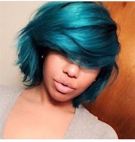 Aqua Hair Color Black Women Hairstyles Natural Hair