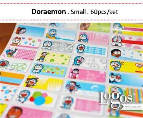 Doraemon Sticker Name Label Small jual doraemon sticker name label small stiker nama anak
