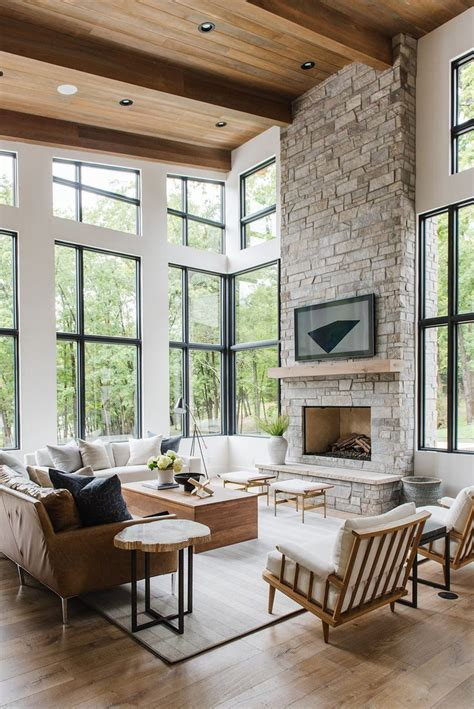 Living Room Shop Zurich by Modern Lake House Living Room Tour Modern Rustic Living