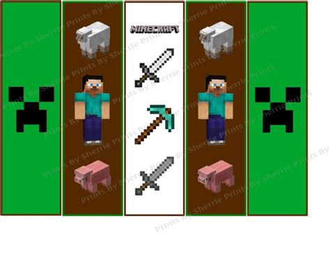 Minecraft Bookmark Template by 8 Best Images Of Printable Minecraft Bookmarks Free