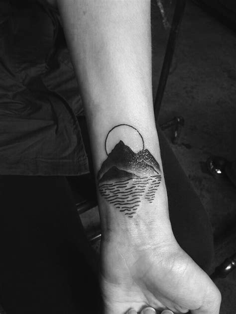 Mountain with a reflection tattoo - Tattoogrid.net