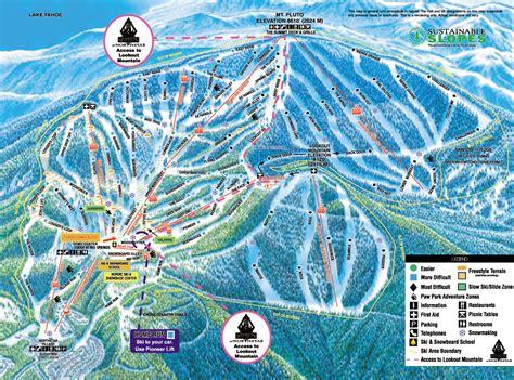 northstar tahoe ski resort guide location map