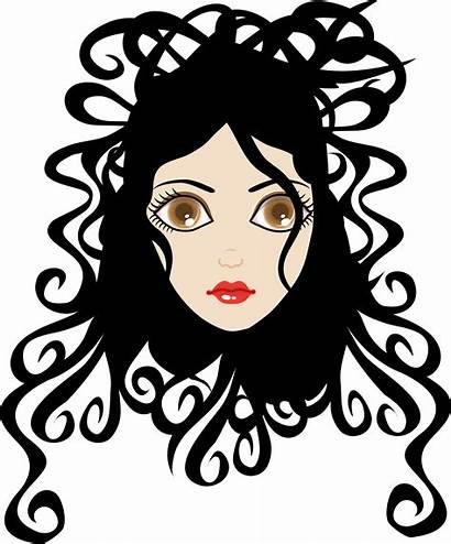 Curl Clip Curly Hair Clipart Pretty Clipartpanda