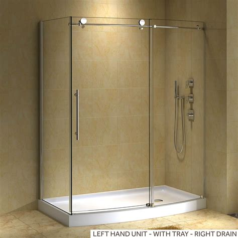 corner shower doors 58 quot x 30 quot sloan corner shower enclosure with arched front