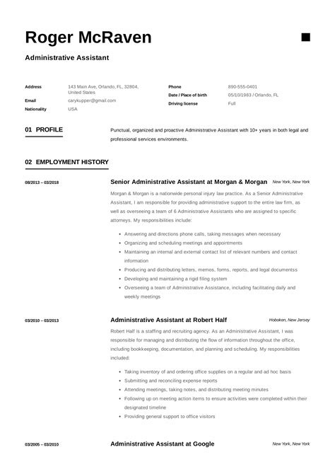 Administrative Resume by Guide Administrative Assistant Resume 12 Sles