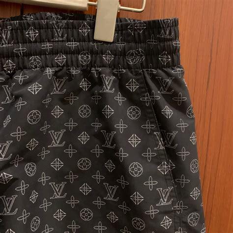 louis vuitton signature monogram board black shorts