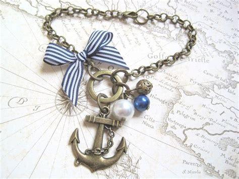 Details About Bronze Anchor Nautical Blue Stripe Bow