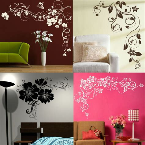 ebay home decor wall stickers corner flower wall stickers interior home floral