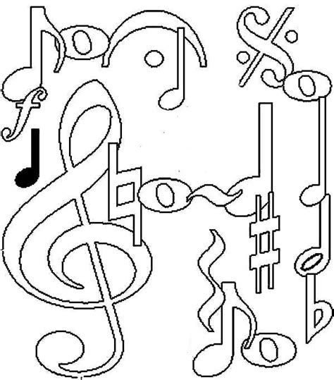 notes coloring pages clipart panda  clipart