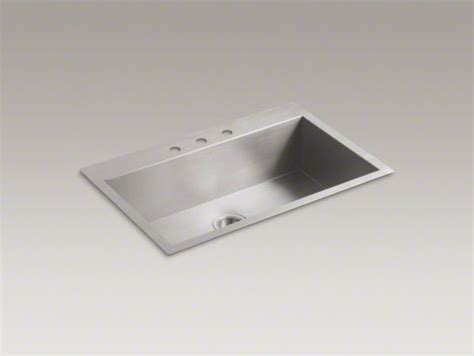 Kohler Kitchen Sink 33x22 by Kohler Vault Tm 33 Quot X 22 Quot X 9 5 16 Quot Top Mount Mount