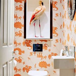 Bright quirky cloakroom