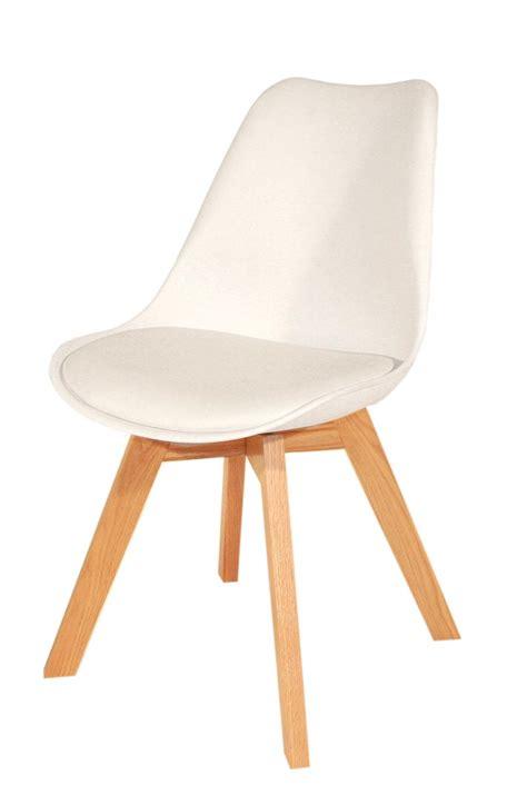 chaise design blanche et bois chaise blanche et bois