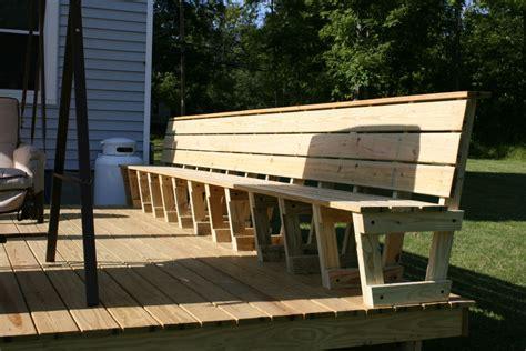 woodwork bench seat plans deck  plans