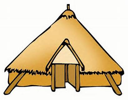 Clipart Mud Celts Houses Straw Hilltop Age