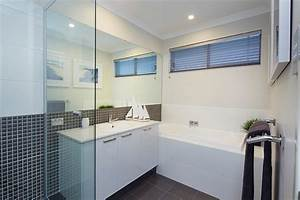 display home the meridian contemporary bathroom With bathroom windows perth