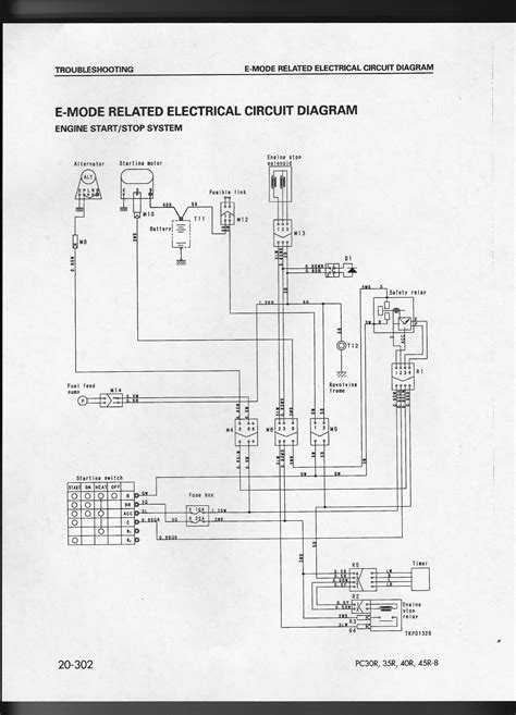 komatsu pc 40 8 mini excavator the machine wont start no fuel pressure at manifold the 5 fuse