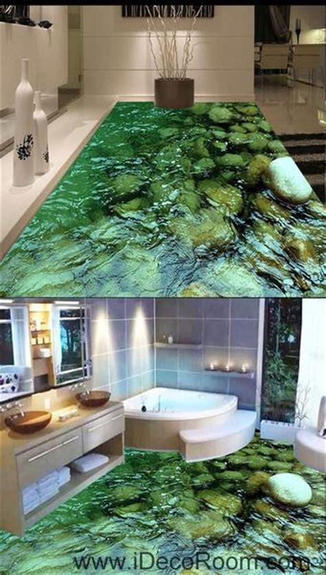 Clear Water Steam Stone 00052 Floor Decals 3D Wallpaper