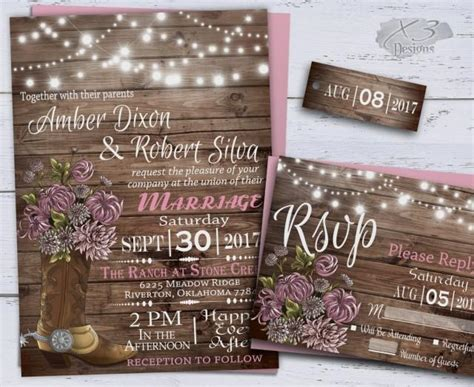 Barn Wedding Invitations : Country Wedding Invitations, Western Wedding Invitations