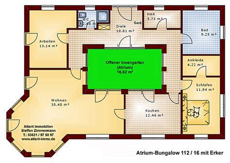 Bungalow Mit Innengarten by Atrium 112 16 Bungalow Mit Erker Einfamilienhaus Neubau