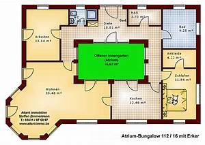 Atrium Bungalow Grundrisse : atrium 112 16 bungalow mit erker einfamilienhaus neubau massivbau stein auf stein ~ Bigdaddyawards.com Haus und Dekorationen