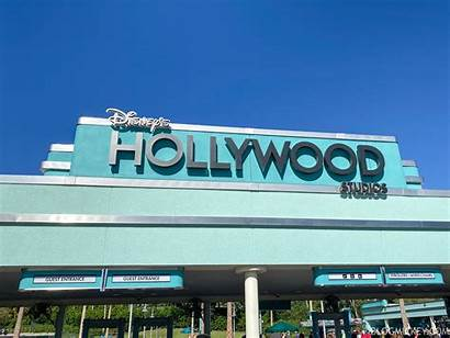 Hollywood Studios Sign Entrance Park Installed Disney