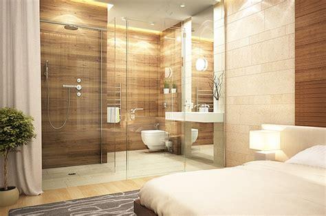 salle de bain chambre parentale chambre en naturelle parquet design luxe