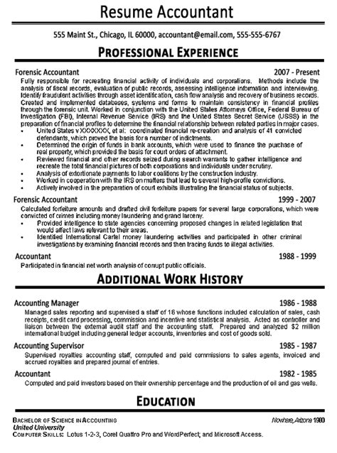 resume for an accountant accountant resume example sample