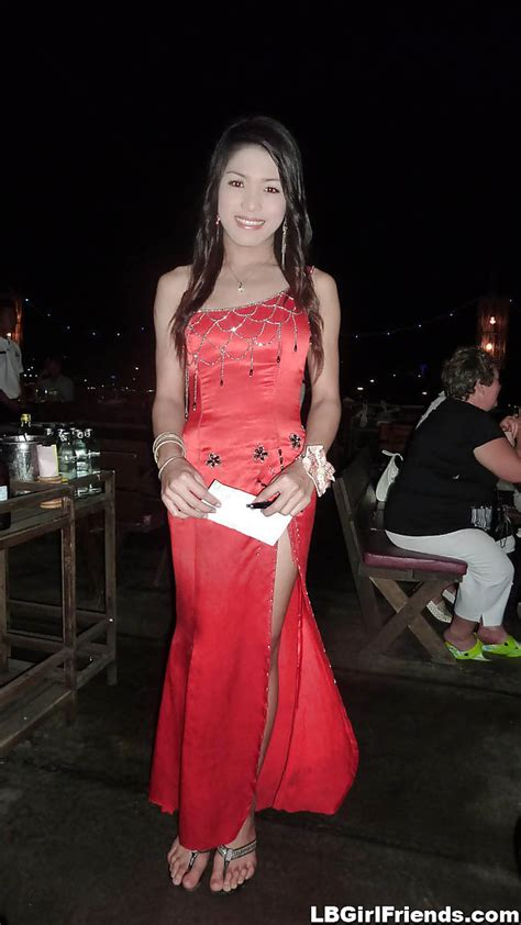 Innocent And Gorgeous Thai Transexuals Posing Outdoors In
